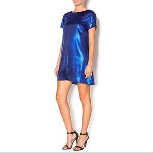 Royal Blue METALLICA DRESS SZ 10